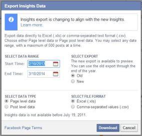 Admin Insights Panel - Export Insights Data