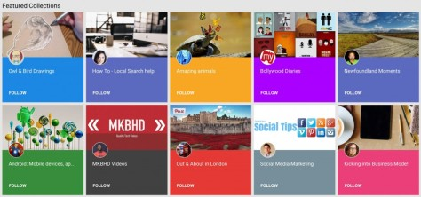 Google Plus Featured Collections